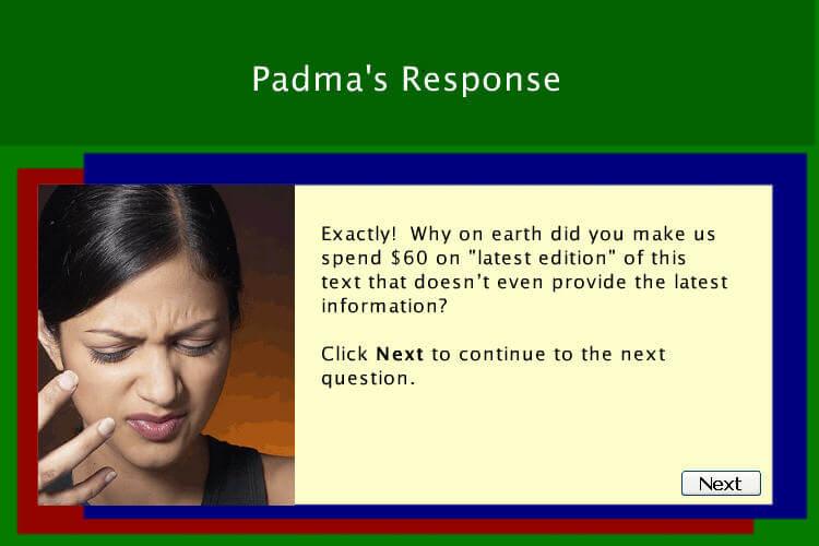 Padma's Response (Negative Feedback)